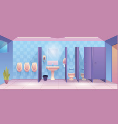 public toilet empty cleaning room wc for male and vector image