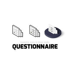 Questionnaire icon in different style vector