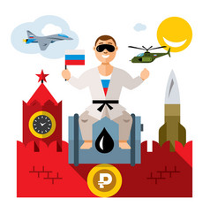 russia travel concept flat style colorful vector image