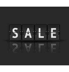 Sale analog flip clock vector image