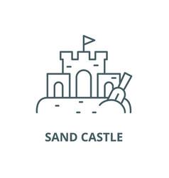 sand castle line icon linear concept vector image
