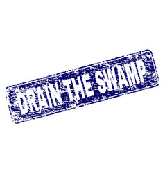 Scratched drain the swamp framed rounded rectangle vector