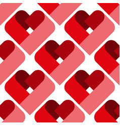 Seamless heart pattern ideal for valentine s day vector