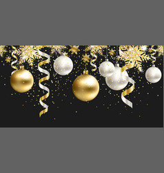 Seamless pattern black christmas decor for site vector