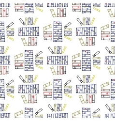 Seamless pattern with stacks books vector