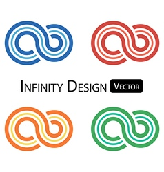 Set colorful infinity symbol vector