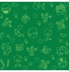 Set doodle art for kids vector