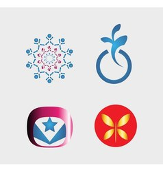 Set of logo and icons vector image