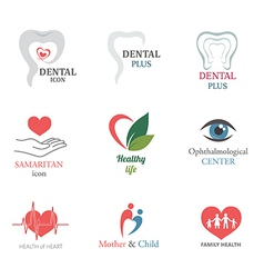 Set of Medical Icons Logo Design Elements vector image