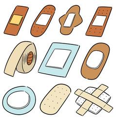set of medical plaster vector image