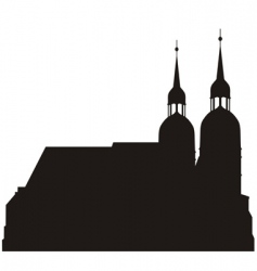 Silhouettes of church vector