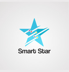 smart star logo iconelementand template vector image
