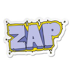 Sticker of a cartoon zap symbol vector
