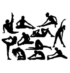 stretching and exercises sport vector image