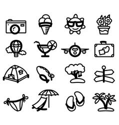 Summer glyphs vector image