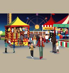 Summer night outdoor fair vector