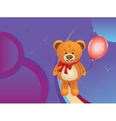 Teddy Bear with Red Bow2 vector image