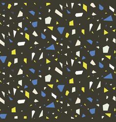 terrazzo flooring dark seamless pattern vector image