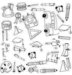 Tool school in doodles with hand draw vector
