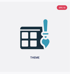 Two color theme icon from programming concept vector