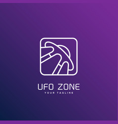 ufo zone logo vector image