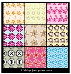 Vintage fower pattern vector image