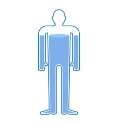 Water balance body liquid in human body man vector
