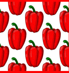 yellow bell pepper seamless pattern hand drawn vector image