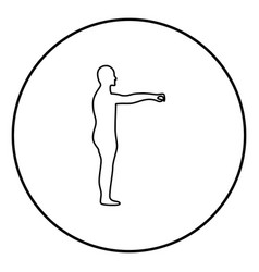zombie icon black color in circle round vector image