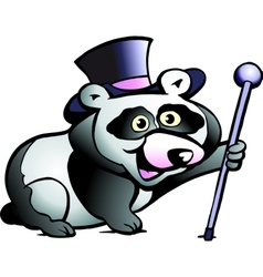 Hand-drawn of an Panda Bear vector image