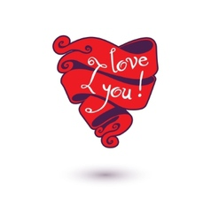 I love you Design Template for your design vector image
