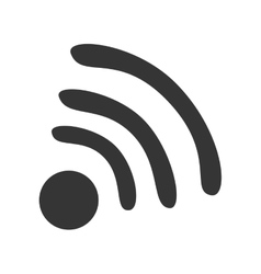 Wifi or wireless isolated flat icon vector image