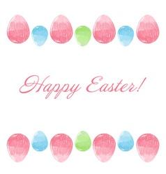 Hand drawn design Easter eggs border frame vector image vector image