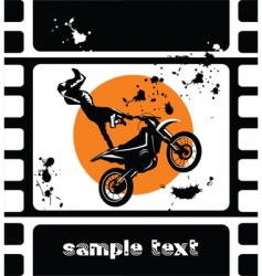 motocross movie vector image vector image