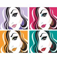 pop art face vector image vector image