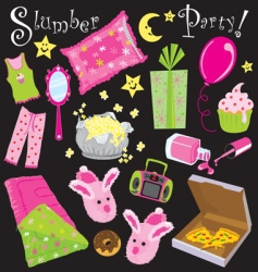 slumber party vector image