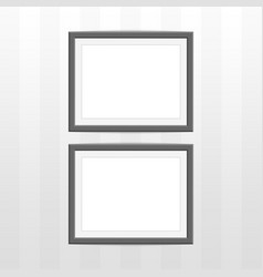 two black photo frame vector image