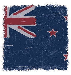 Flag of New Zealand handmade square shape vector image vector image