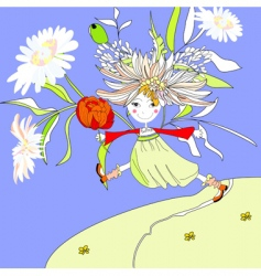 happy girl vector image vector image