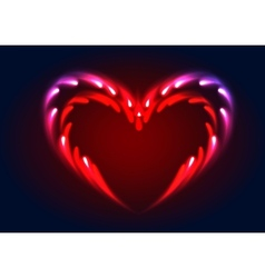 heart with glow effect vector image vector image