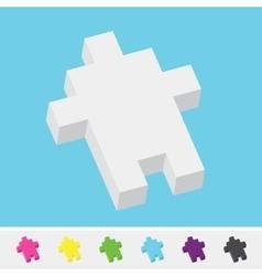 Pixel art style isometric cursor arrow pack vector image vector image