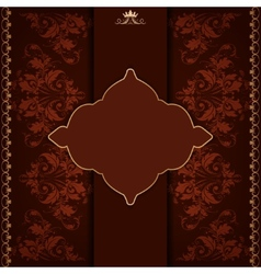 Royal frame with damask ornament vector image vector image