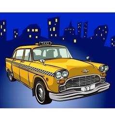 taxi cab vector image