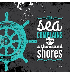 Travel grunge background Sea nautical design vector image vector image