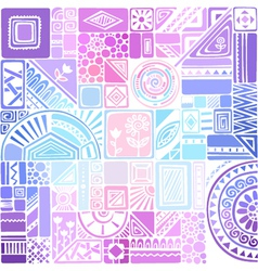 Bright colourful seamless texture with geometric vector
