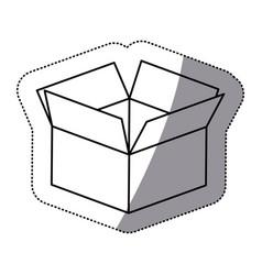 contour box opened icon vector image