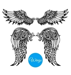 Decorative Wings Set vector image vector image