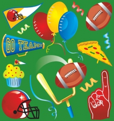 football party icons vector image
