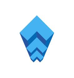 geometric staircase architectural bureau logo vector image vector image