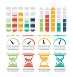 infographics elements progress bars vector image